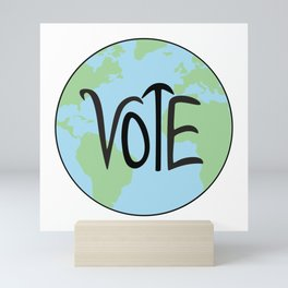Vote Earth Hand Drawn Mini Art Print