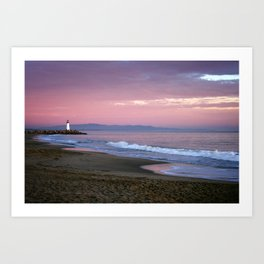 Santa cruz lighthouse Art Print