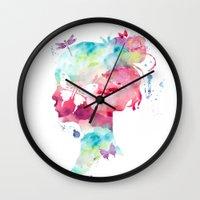 selfie Wall Clocks featuring SELFIE by L'Atelier de Magie