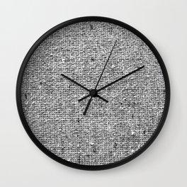 Coarse Grey Linen Wall Clock