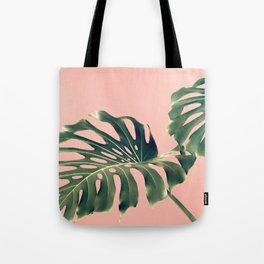 Monstera Blush Tote Bag