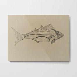 Fishy Line Metal Print
