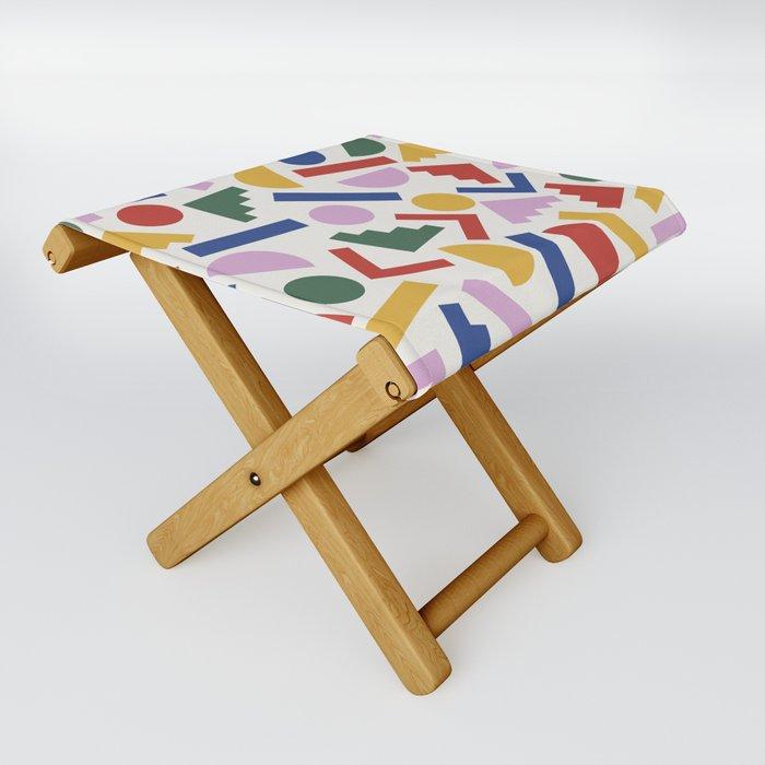 Colorful Geometric Shapes Folding Stool