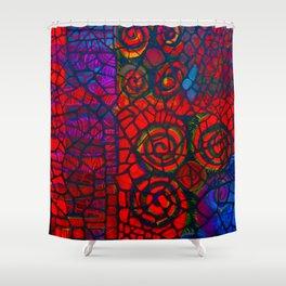 Ram's Horns 2013 By Jackson Shuri (Adinkra Symbol) Shower Curtain