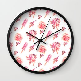 Floral Chill Wall Clock
