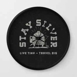 """""""Stay Silver"""" Retro Type (1 color) Wall Clock"""