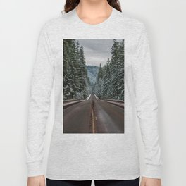 Winter Road Trip - Pacific Northwest Nature Photography Long Sleeve T-shirt