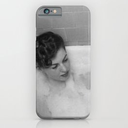 A Good Book and a Bath, female form black and white photography / photograph iPhone Case