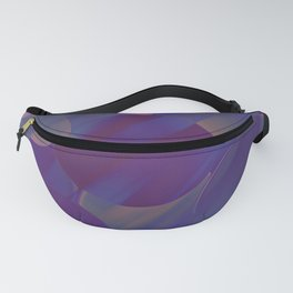 SHIFT blue purple pink abstract design Fanny Pack