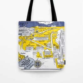 PITTSBURGH University map PENNSYLVANIA  dorm decor Tote Bag
