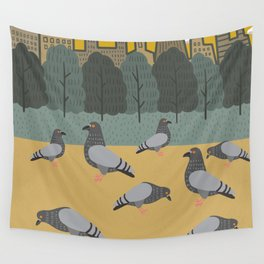 Pigeons Day Out Wall Tapestry