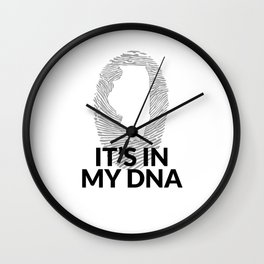 Illinois DNA Shirt for People from Illinois Wall Clock