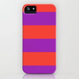 Even Horizontal Stripes, Red and Purple, XL iPhone Case