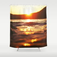 lake Shower Curtains featuring Lake by Meg Hartley Photography