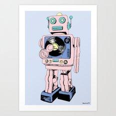 DJ Bot Art Print