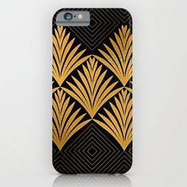 Art Deco Luxurious Gold and Ebony Black Elegant Design iPhone Case