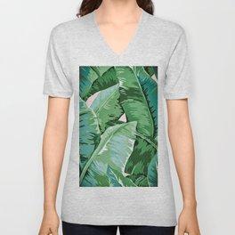 Banana leaf grandeur II Unisex V-Neck