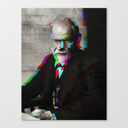 Freud Glitch Love Canvas Print