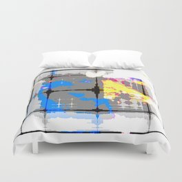 glitch abstract Duvet Cover