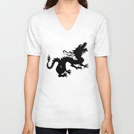 Dragon Silhouette 2 Unisex V-Neck