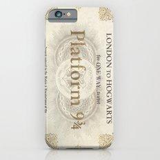 Platform 9 3/4 ticket iPhone 6s Slim Case
