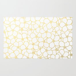 Forget Me Knot White Gold Rug
