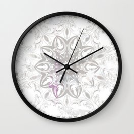 ligh colored lace Wall Clock