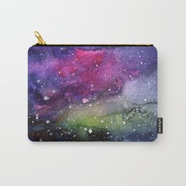 Galaxy Watercolor Night Sky Painting Nebula Art Carry-All Pouch
