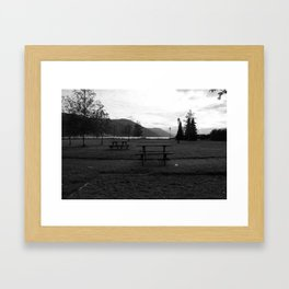 The Park Framed Art Print