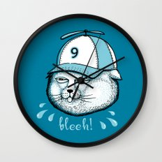 I have 9 lives, so Bleeh! Wall Clock
