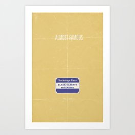 Almost Famous minimalist poster Art Print