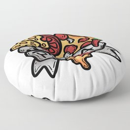 Heart Pizza Love Italy Salami cheese gift Floor Pillow