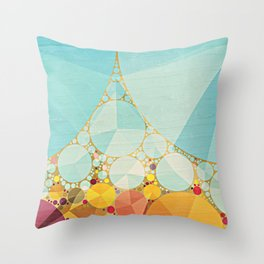 Travelling Show Abstract Circus Carnival Tent Throw Pillow