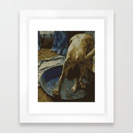 Woman in Bath - Degas - Vector Series Framed Art Print