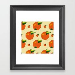 orange pattern Framed Art Print
