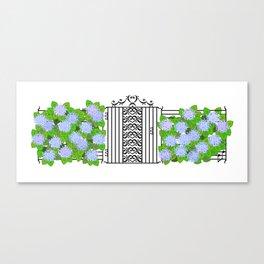 Segno Gate & Fermata Hydrangea Canvas Print
