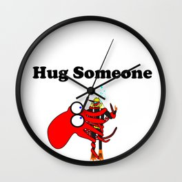 Hug Someone Wall Clock