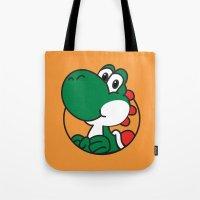 yoshi Tote Bags featuring Yoshi by pondlifeforme