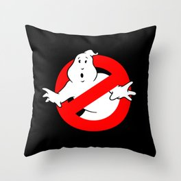 Ghostbusters Black Throw Pillow