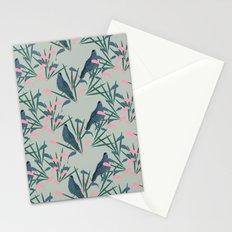 Kokako Wallpaper Pattern Stationery Cards
