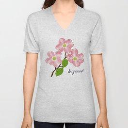 Dogwood Blossoms Unisex V-Neck