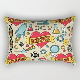 Scientific Tattoos Rectangular Pillow