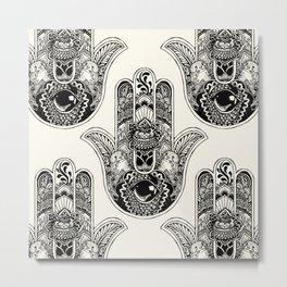 Hamsa Hand Otter Metal Print