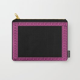 Pink Greek Border Carry-All Pouch