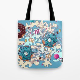 Sweet Blue Camo Tote Bag
