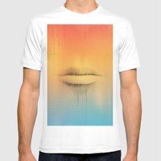 Data Kiss White Mens Fitted Tee MEDIUM