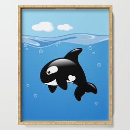 Orca, Cute Killer Whale Serving Tray