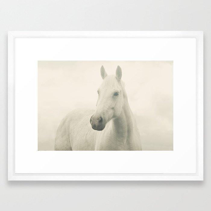 Dreamy Horse Photo Framed Art Print by applesandoatsphotography ...