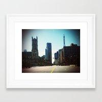 detroit Framed Art Prints featuring Detroit by Jami Davidson