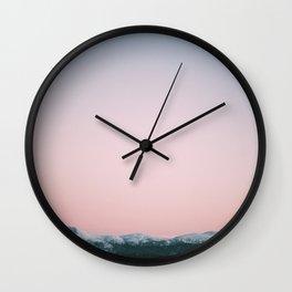 Dusk Mountains Wall Clock